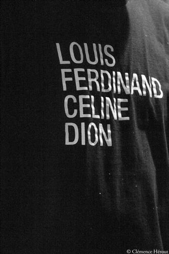 Louis Ferdinand Céline Dion tee-shirt