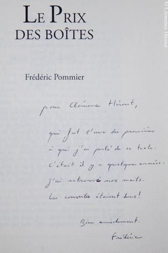 Athénée Prix des Boîtes dédicace Frédéric Pommier (c) Clémence Hérout