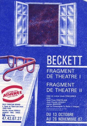 Affiche Athénée Beckett