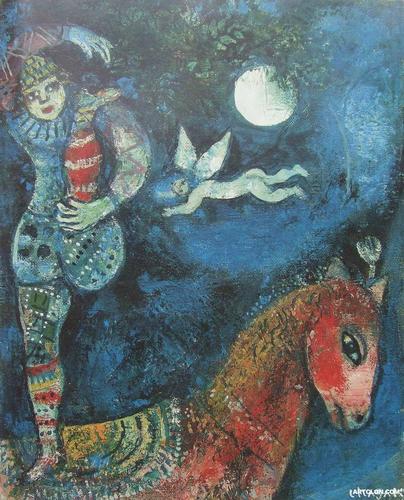 Cavalier Cirque Marc Chagall