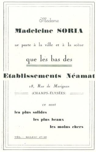 Publicité Madeline Soria Bas Néamat