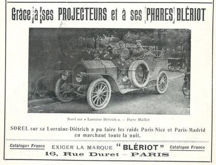 Publicité voiture Blériot